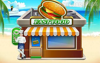 Fastfood salon game for kids