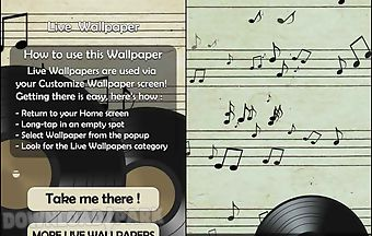 Music notes 3d live wallpaper