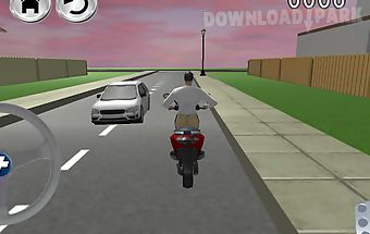Free bike driving school 3d