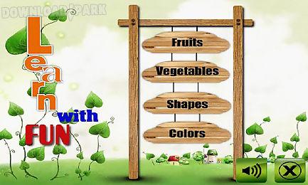 fruit veg shape color for kids