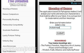 Meaning of names & divination