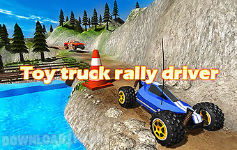 Toy truck rally driver