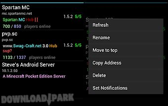 Server status (for minecraft)