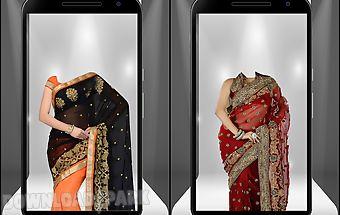 Women saree suit photo montage