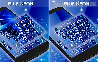 Blue neon go keyboard theme