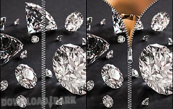 Diamond zipper screen lock