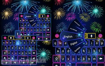 Fireworks go keyboard theme