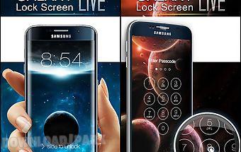 Space galaxy lock screen