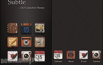 Subtle go launcher theme