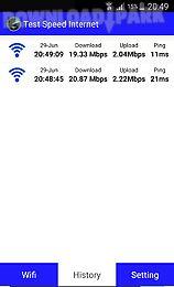 test speed internet 3g,4g,wifi
