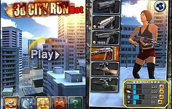 3d city run hot