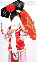 chinese costume photo montage