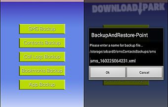 Backup and restore master