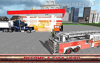 City firefighter truck