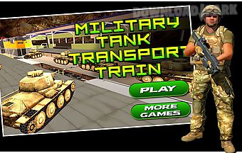 Military tank transport train