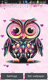 Owl android live wallpaper free download in apk the description of owl cute and funny owls on the screen of your smartphone or tablet live wallpapers have handy settings energy saving mode are completed voltagebd Gallery
