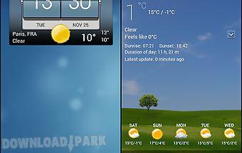 3d flip clock & world weather