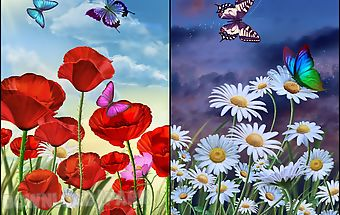 Flowers and butterflies summer