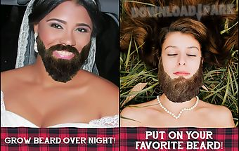 Beard salon photo montage