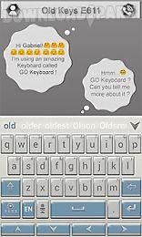 old keys e611 keyboard theme