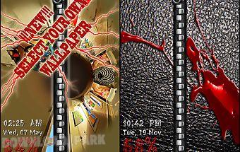 Lock screen - wallet theme