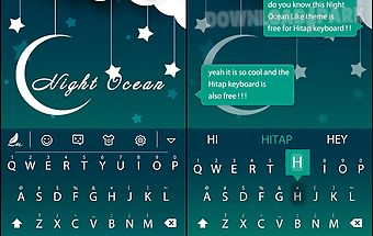 Night ocean for hitap keyboard