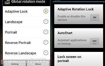 Rotation lock adaptive (free)