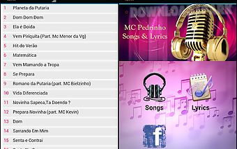 Mc pedrinho songs & lyrics