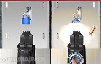 Pistol shooting screen lock