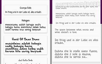 Hand fonts for flipfont