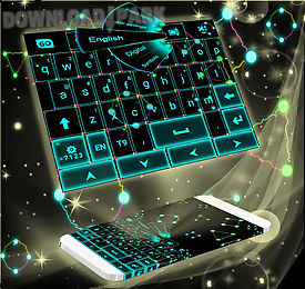 neon lightning keyboard