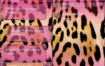 Pink leopard theme for go sms