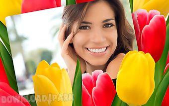 Flower collage - photo editor
