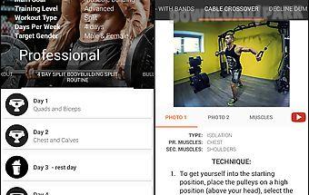 Gym app training diary