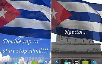 3d cuba flag live wallpaper