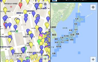 Wi-fi spot map of japan