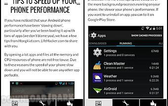 Faster phone performance tips