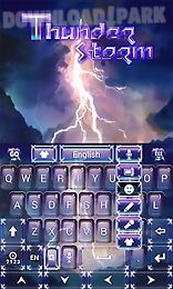 thunder storm keyboard theme
