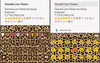 Cheetah emoji keyboard theme