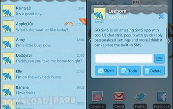Go sms pro rainy day theme