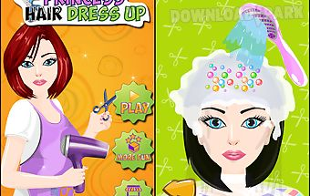 Princess hair dress up salon