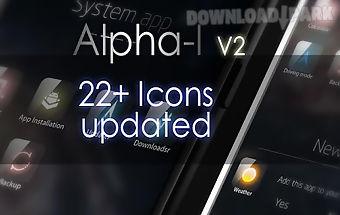 Alpha-i go launcher theme