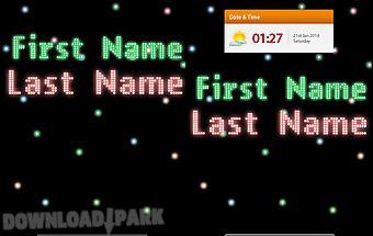 Led name