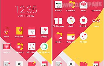 Love story-apus launcher theme