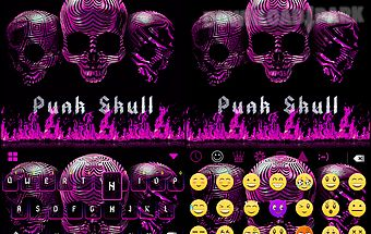 Punk skull 💀 keyboard theme