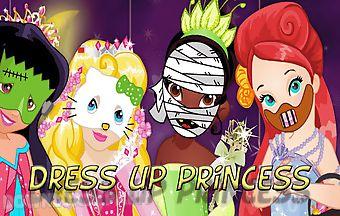 Dress up princess on halloween