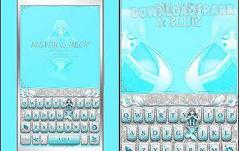 Blue silver emoji kikakeyboard