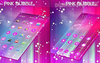 Pink bubble go theme