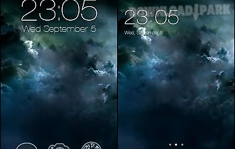 Abstract grey sky galaxy theme
