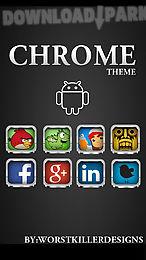 chrome apex nova go adw theme